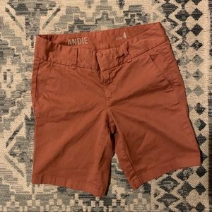 J Crew Andie Chino Shorts in coral 4